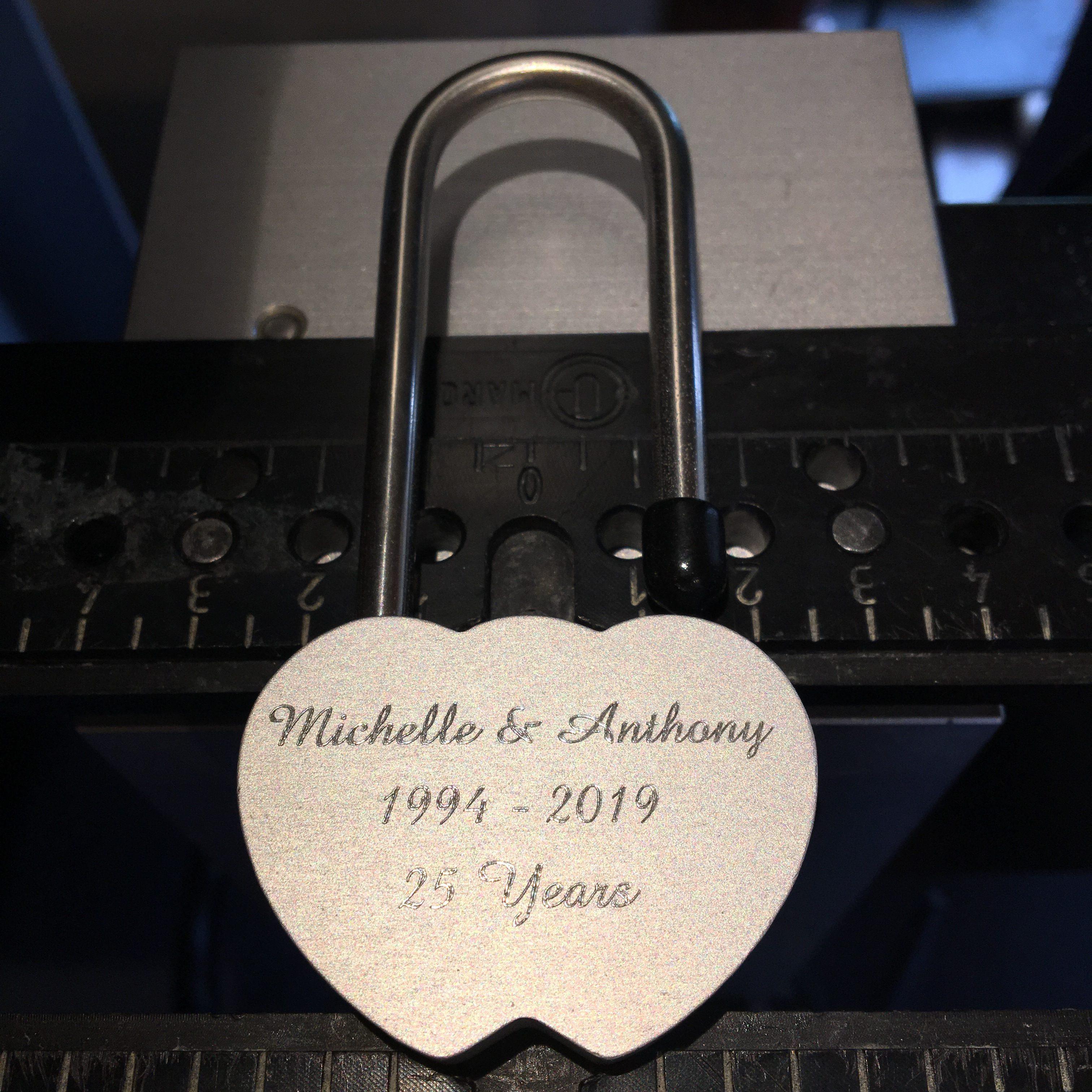 Love lock engraving